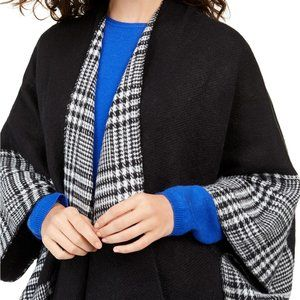 Charter Club Accessories - Charter Club Reversible Plaid Colorblocked Topper